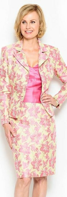 Daymor Couture Hibiscus Skirt Suit