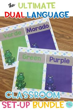 his ultimate Shabby Chic and Burlap themed classroom decor set up and organization brings character and personality to your classroom. Perfect for this back to school season. All labels, posters, and words walls, are in Spanish and English. Carefully color coded to support dual language classrooms in elementary.