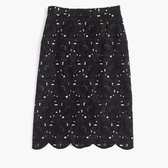 J.Crew Womens Collection Pencil Skirt In Austrian Lace (Size 00)