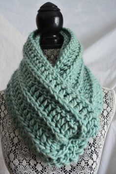 This is a beautiful handmade infinity scarf Made with super soft and chunky yarn for comfort and warmth. 80% acrylic 20% wool  This scarf is very