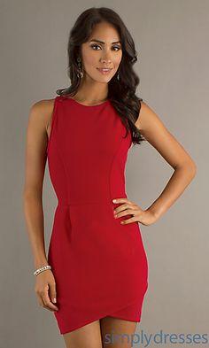 Short Sleeveless Dress at PromGirl.com