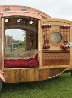 Steampunk Teardrop Caravan  built by Dave Moult in the UK (pinned by haw-creek.com)