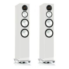 Monitor Audio Silver 8 Gloss White Lacquer available at Audio Visual Solutions Group 9340 W. Sahara Avenue, Suite Las Vegas, NV Call us for pricing & availability Best Speakers, Speaker System, Loudspeaker, Audiophile, Go Shopping, High Gloss, Monitor, Showroom, Design