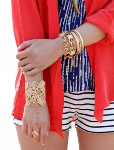 Red white and blue...love this cuff as well.
