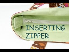 inserting zipper in bags