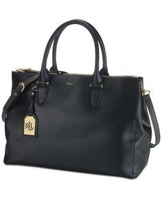 Lauren Ralph Lauren Newbury Double Zip Satchel - Satchels - Handbags & Accessories - Macy's