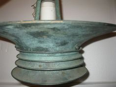 ESTATE FIND: BEAUTIFUL OLD COPPER? PENDANT LIGHT--MARKED, MADE IN SPAIN, NO RES. #Unknown