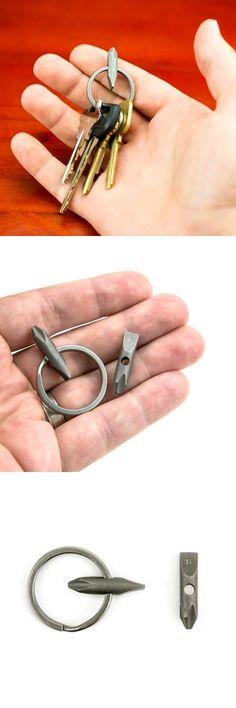Big Idea Design TITANIUM EDC Everyday Carry Gear POCKET BIT Tool for Keychain in Round Head