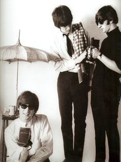 John Lennon, George Harrison, and Ringo Starr