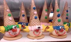 Baskin Robbins clown cones! My fav thing as a kid. Wonder if they still make them? May need to do some research. : )