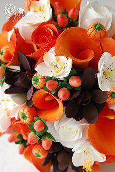 DK Designs autumn clay bouquet