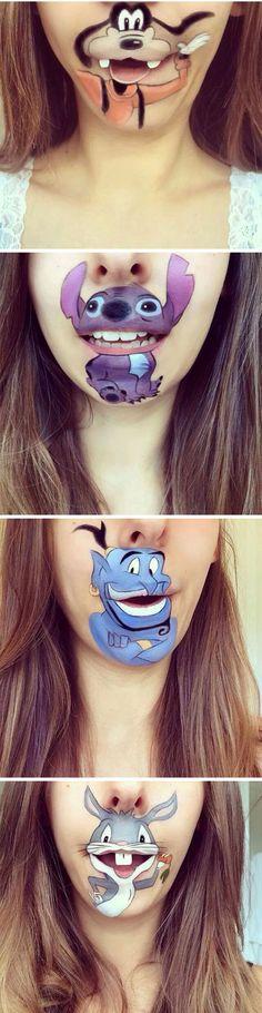 Un maquillaje muy loco
