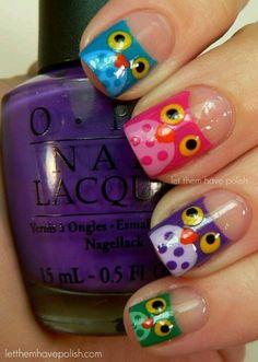 makkelijke uiltjes voor op je nagels