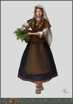 f Townsperson maid merchant Folk of the Sisk Empire by yanzi-5.deviantart.com on @deviantART