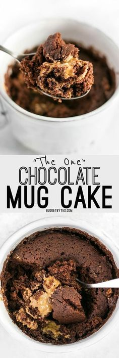 In just two minutes you can have this perfect single serving chocolate mug cake to quiet that sweet tooth.