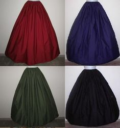 They come in lovely colors. My favorite is the Olive Green. This would be so perfect for the Renaissance Festival.