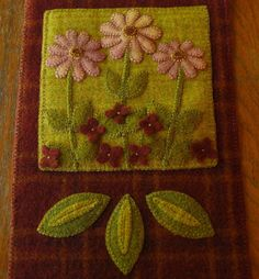 Wool Applique by HorseAndBuggyCountry