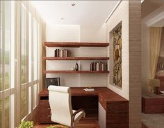Design small balcony - transform the balcony in an additional comfortable room If you live in a big city, then you might have rented an apartment in the best . Small Apartments, Small Spaces, Tiny Home Office, Small Balcony Design, My Dream Home, Modern Decor, Interior Inspiration, Beautiful Homes, Architecture Design