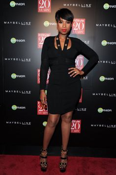 Pin for Later: Stunning Stars Amped Up the Excitement at New York Fashion Week  Jennifer Hudson struck a pose at InStyle's 20th-anniversary party on Monday.