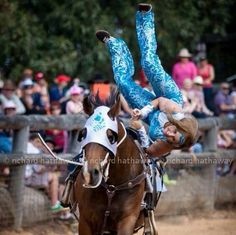 Amazing action picture of trick riding. Trick Riding, Action Pictures, Riding Horses, Yoga Photography, Taylors, Horse Barns, Horse Love, Animal Quotes, Horse Stuff