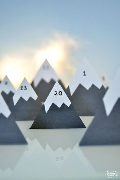 Every year, I make a new advent calendar for my kids {who are, incidentally, now aged 14 and nearly In reality, I probably make th. Christmas And New Year, Winter Christmas, Christmas Holidays, Xmas, Advent Calenders, Diy Advent Calendar, Clay Christmas Decorations, Christmas Crafts, Navidad Diy