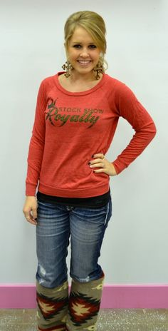 Southern Jewlz Online Store - Red Slouchy Stock Show Royalty Pullover, (http://www.southernjewlz.com/red-slouchy-stock-show-royalty-pullover/)