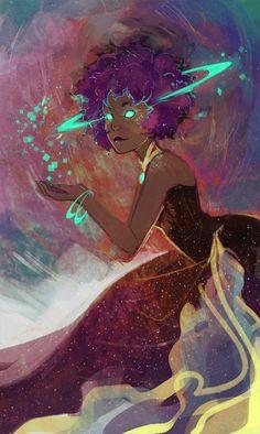 Ashtoreth by missusruin.deviantart.com on @DeviantArt - 'nother rad space lady yay! :3
