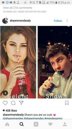 Selena is Selena but Shawn is our weird boy!💕