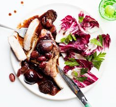 Pork Chops with Fig and Grape Agrodolce Recipe   Epicurious