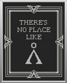 INSTANT DOWNLOAD Stargate Cross Stitch Sampler - There's No Place Like Pattern PDF
