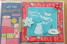 Vintage Style December Daily Page 2 Close Up - Two Crazy Crafters Blog