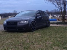 Slammed Audi A3 from Tennessee #Audi Accessories. Check them out at #Rvinyl http://www.rvinyl.com/Audi-Accessories.html