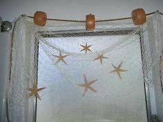 15 ft x 8 ft Nautical Fish Fishing Net Window Curtains Valance Bath Decor | eBay
