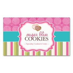 Whimsical Cookies Business Cards. Make your own business card with this great design. All you need is to add your info to this template. Click the image to try it out!