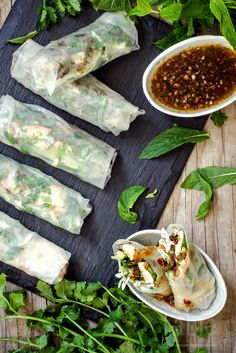 rice paper rolls with grilled lemongrass chicken | table twenty eight ...