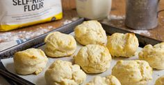 You'll need just two ingredients to make these tender, rich biscuits.