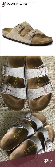 Like new *** Birkenstock -2 strap soft suede I have worn these twice! I just can't do birken's or Chaco with my arch So sad. I LOVE the look of these. Bought them 2 weeks ago for $125 Birkenstock Shoes Sandals