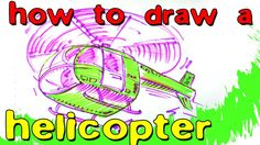 How To Draw a Helicopter