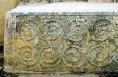 In archaeology - spiral design in the Tarxien temple, Malta
