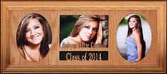 8x20 PERSONALIZED Three - 5x7 Opening Frame ~ Class of (Your Year) Text Frame, College Graduation Gifts, Great Gifts, Frames, Classy, Chic, Frame