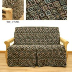 Navarro Skirted Futon Slipcover Full 628 by SlipcoverShop. $79.00. In Stock - Ships within 2 days. Extremely easy to apply or remove. See Sizing and Product Description below. Made to fit full size futon cushions measuring 75 inches wide. Patented construction by Easy Fit®. is extremely easy to apply or remove. Completely conceals the front and back of the futon frame. Front skirt can be folded for exposed front appearance. Navajo fabric is traditional South Western t...