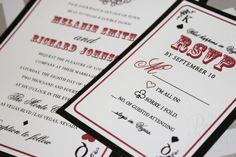 Las Vegas | Lucky in Love | Wedding Invitation, Vegas Wedding Invitation on Etsy, $4.50
