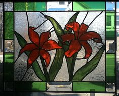 Stained Glass Tiger Lilies by MicahsGlass on Etsy                                                                                                                                                                                 More