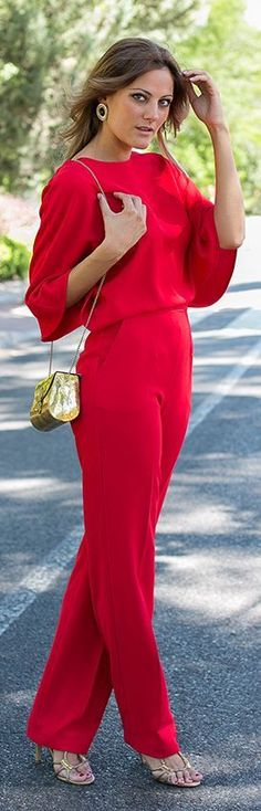 nice lady in red...