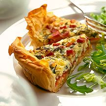 Enjoy a tasty and delicious meal in Learn how to make Classic filo quiche and get the Smartpoints of the recipes. World Recipes, Ww Recipes, Low Calorie Recipes, Healthy Recipes, Plats Weight Watchers, Weight Watchers Uk, Quiches, Weightwatchers Recipes, Quiche Recipes