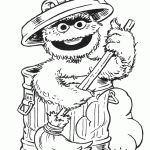 Oscar the Grouch sesame_street_coloring_pages_010