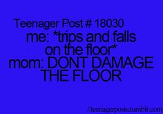 I fall too many times for my mom to care. #dancerprobs