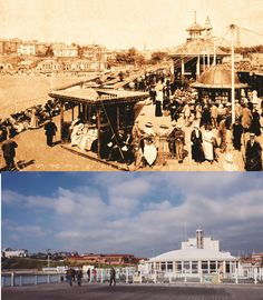 Bournemouth Pier in the early 1900s and as it looks today #UK #history #localhistory
