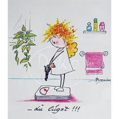 Passepartout-Bild 24 x 30cm - Heidemarie Brosien - Du lügst