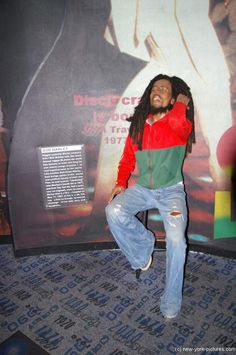 Bob Marley at Madame Tussauds in New York.